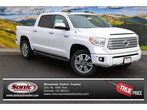 Super White 2015 Toyota Tundra Platinum CrewMax 4x4