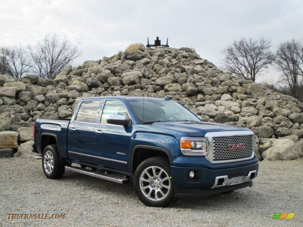 2015 gmc sierra 1500 denali crew cab 4x4 in stone blue metallic 219456 truck n 39 sale. Black Bedroom Furniture Sets. Home Design Ideas
