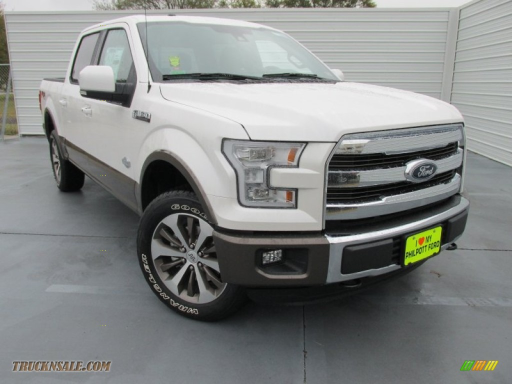 2015 ford f150 king ranch supercrew 4x4 in white platinum tricoat a15594 truck n 39 sale. Black Bedroom Furniture Sets. Home Design Ideas