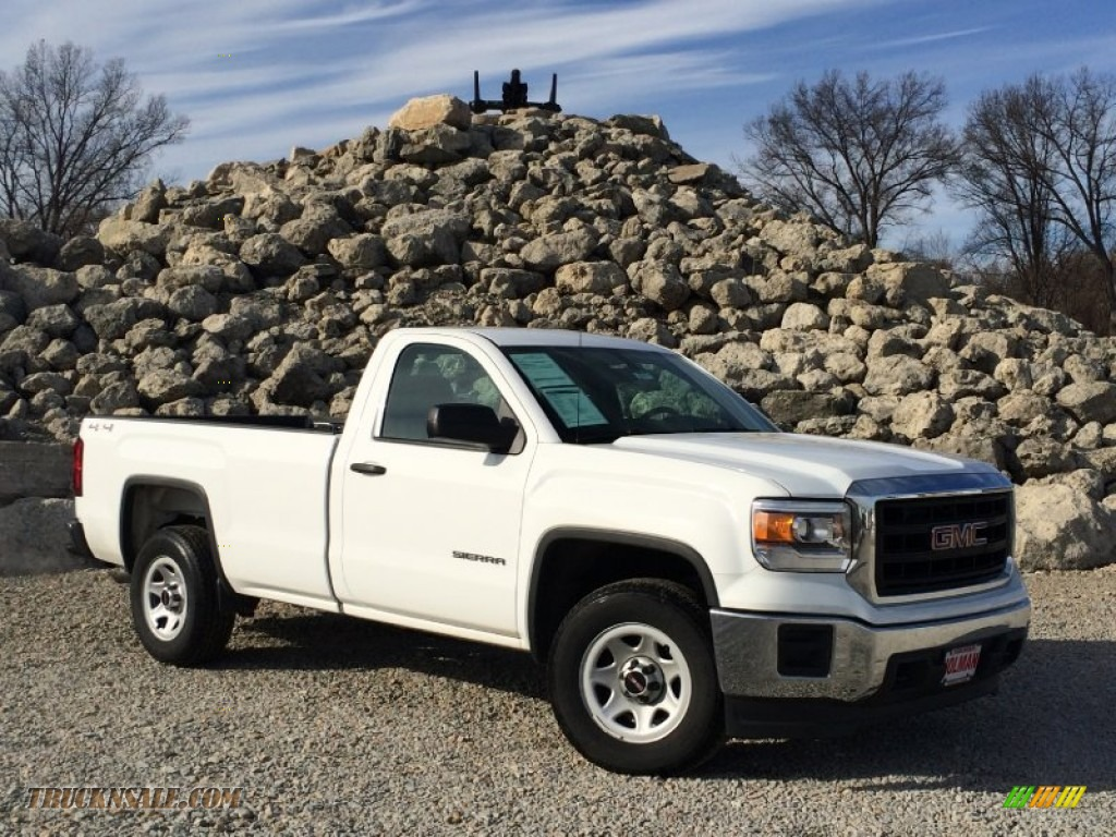 2014 gmc sierra 1500 regular cab 4x4 in summit white 270629 truck n 39 sale. Black Bedroom Furniture Sets. Home Design Ideas