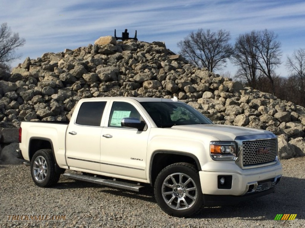 2015 gmc sierra 1500 denali crew cab 4x4 in white diamond tricoat 224573 truck n 39 sale. Black Bedroom Furniture Sets. Home Design Ideas