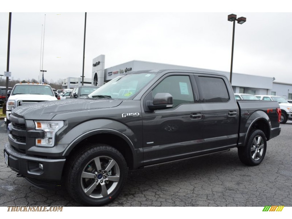 2015 ford f150 lariat supercrew 4x4 in magnetic metallic photo 3 a18894 truck n 39 sale. Black Bedroom Furniture Sets. Home Design Ideas