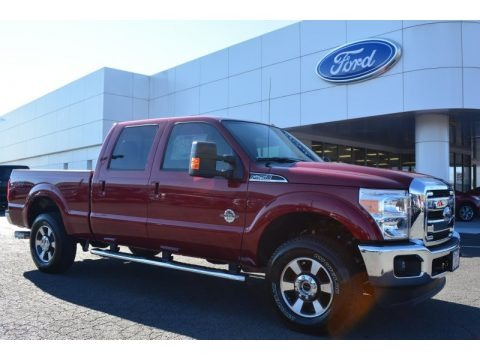 ruby red ford f250 super duty lariat crew cab 4x4 trucks for sale truck n 39 sale. Black Bedroom Furniture Sets. Home Design Ideas