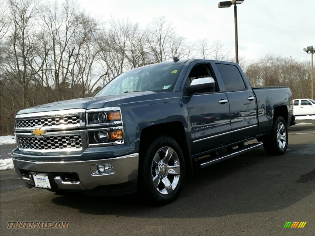 2014 chevrolet silverado 1500 ltz crew cab 4x4 in blue granite metallic 231591 truck n 39 sale. Black Bedroom Furniture Sets. Home Design Ideas