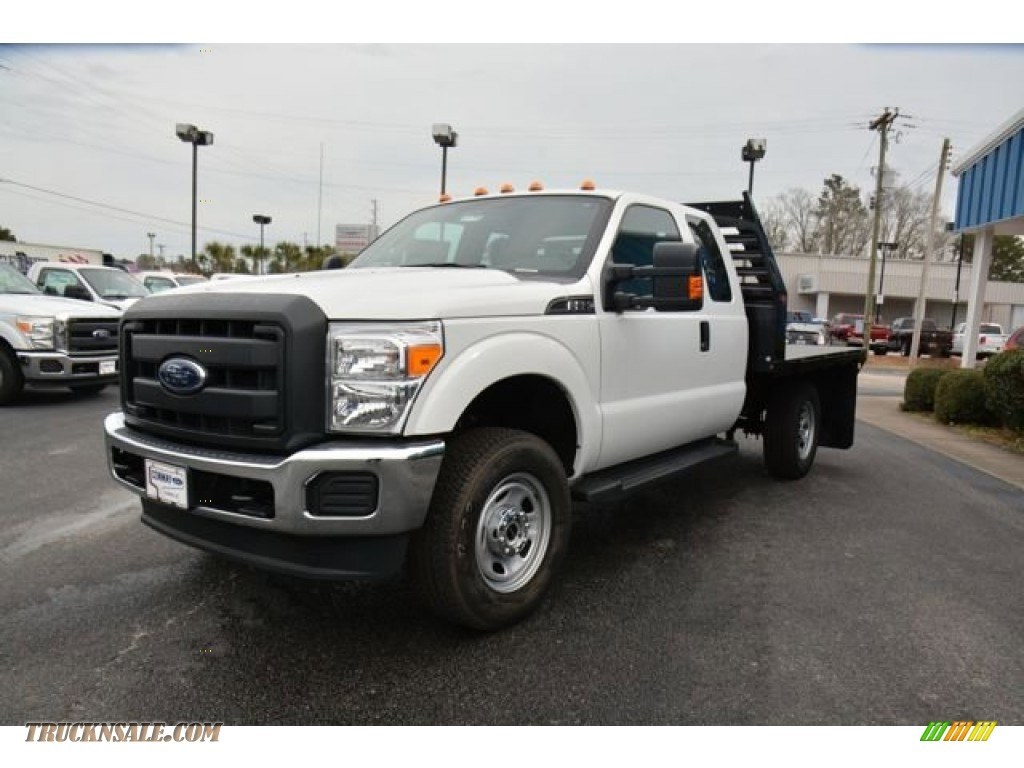 Ford Ranger White 2017 >> 2015 Ford F350 Super Duty XL Super Cab 4x4 Flat Bed in Oxford White - A47966   Truck N' Sale