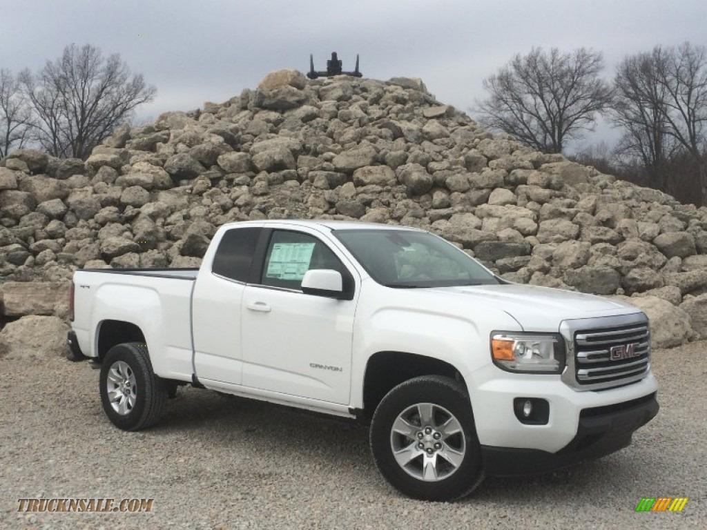 2015 gmc canyon sle extended cab 4x4 in summit white 173898 truck n 39 sale. Black Bedroom Furniture Sets. Home Design Ideas