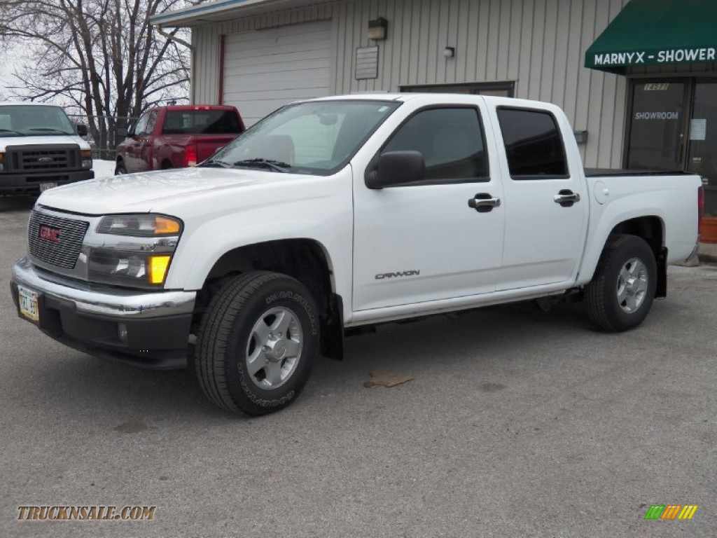 2005 gmc canyon sle crew cab 4x4 in summit white 250009 truck n 39 sale. Black Bedroom Furniture Sets. Home Design Ideas