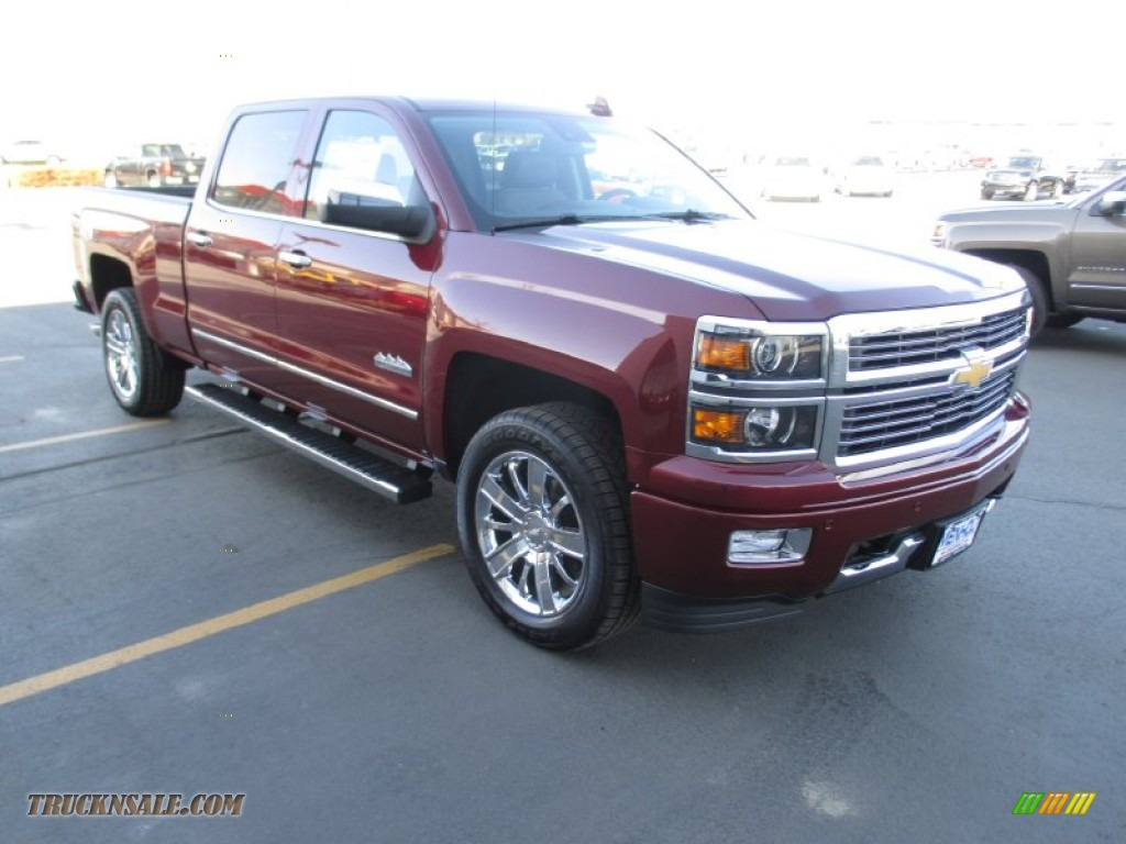 2015 chevrolet silverado 1500 high country crew cab 4x4 in deep ruby metallic 262799 truck n. Black Bedroom Furniture Sets. Home Design Ideas