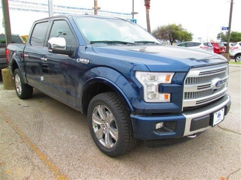 Blue Jeans Metallic 2015 Ford F150 Platinum SuperCrew 4x4