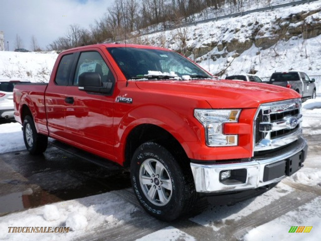 2015 Ford F150 Xlt Supercab 4x4 In Race Red A51429