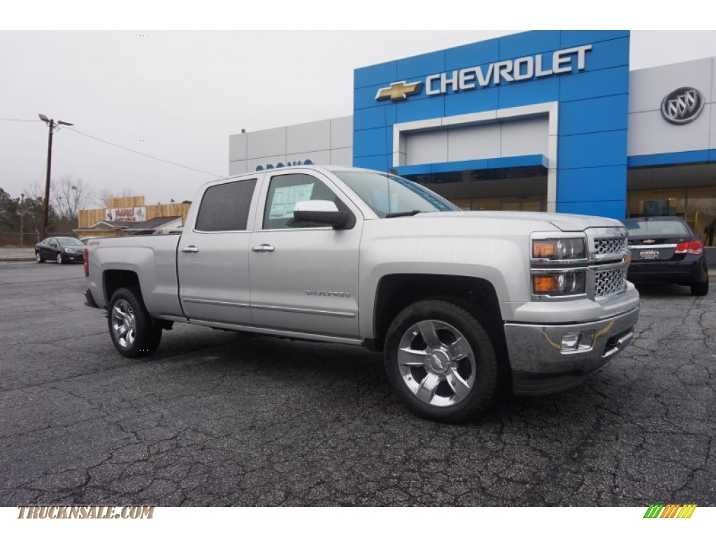 2015 chevrolet silverado 1500 ltz crew cab 4x4 in silver ice metallic 199924 truck n 39 sale. Black Bedroom Furniture Sets. Home Design Ideas