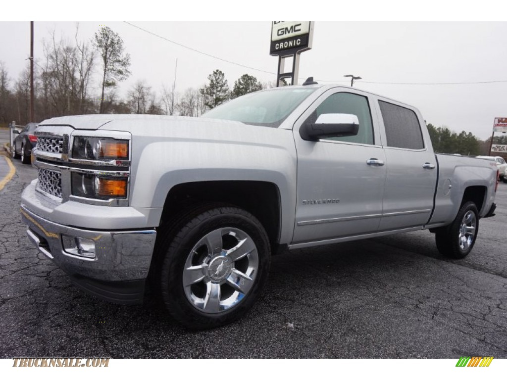 2015 chevrolet silverado 1500 ltz crew cab 4x4 in silver ice metallic photo 3 199924 truck. Black Bedroom Furniture Sets. Home Design Ideas