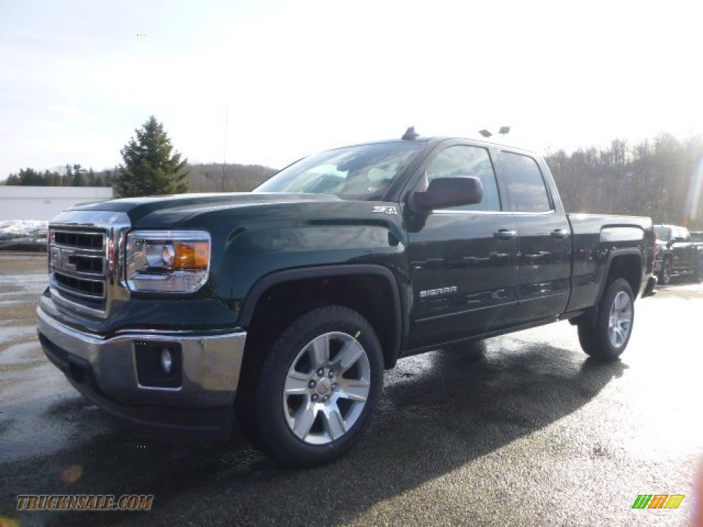 2015 gmc sierra 1500 sle double cab 4x4 in emerald green metallic 233785 truck n 39 sale. Black Bedroom Furniture Sets. Home Design Ideas
