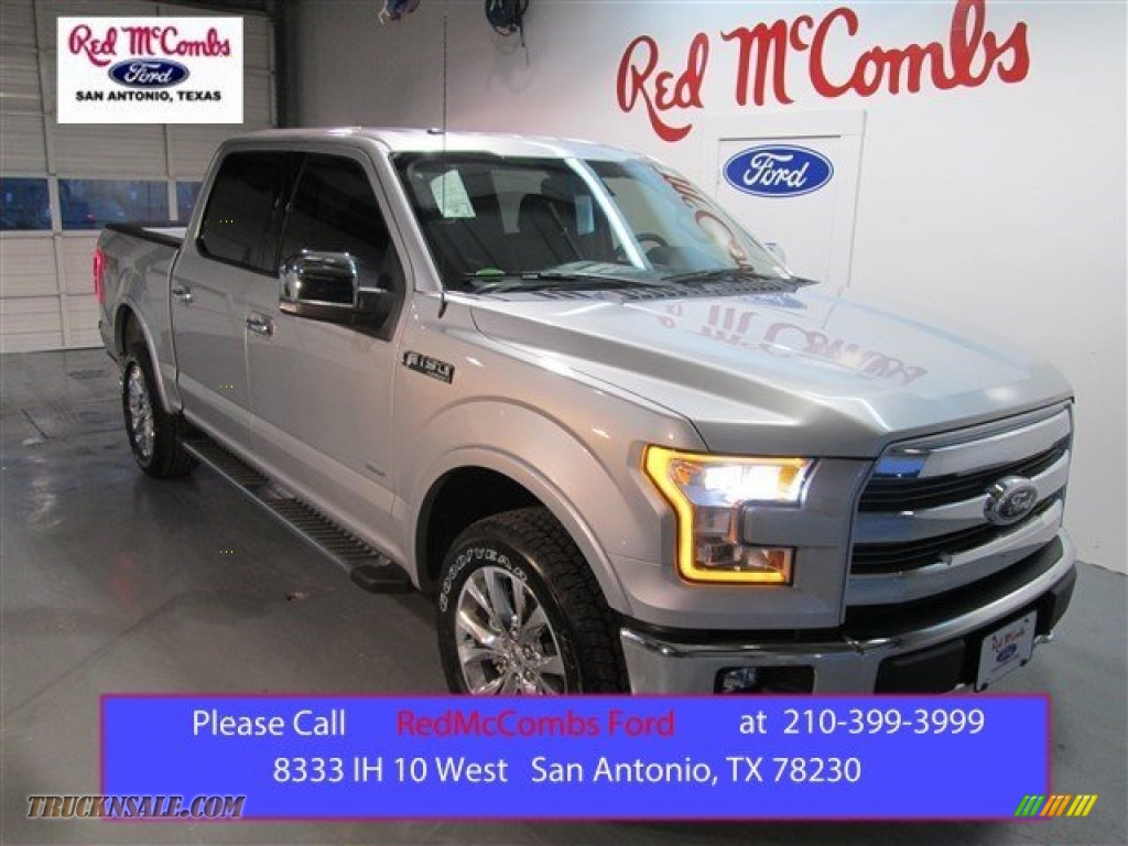 2015 Ford F150 Lariat Supercrew 4x4 In Ingot Silver