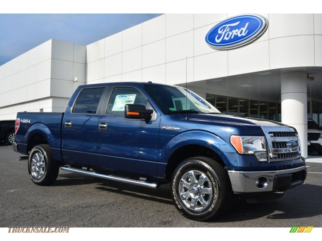2014 ford f150 xlt supercrew 4x4 in blue jeans c41815 truck n 39 sale. Black Bedroom Furniture Sets. Home Design Ideas