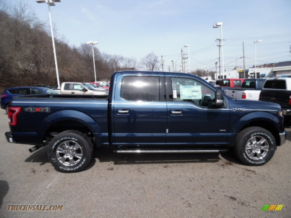 2015 F150 XLT SuperCrew 4x4 - Blue Jeans Metallic / Medium Earth Gray ...