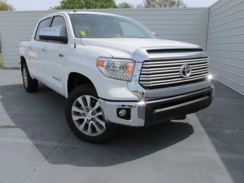 Super White 2015 Toyota Tundra Limited CrewMax