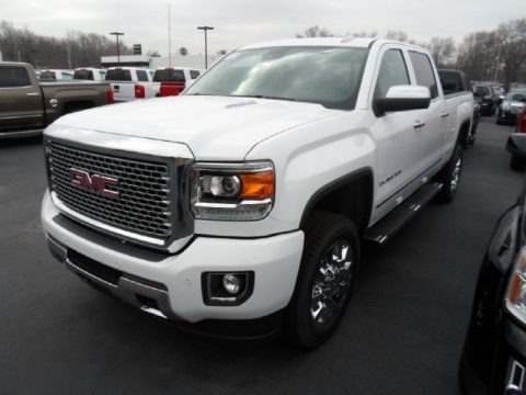 Summit White 2015 GMC Sierra 2500HD Denali Crew Cab 4x4