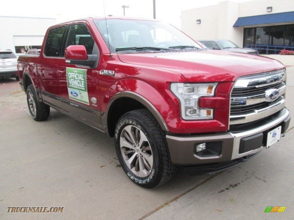2015 ford f150 king ranch supercrew 4x4 in ruby red metallic a28280 truck n 39 sale. Black Bedroom Furniture Sets. Home Design Ideas