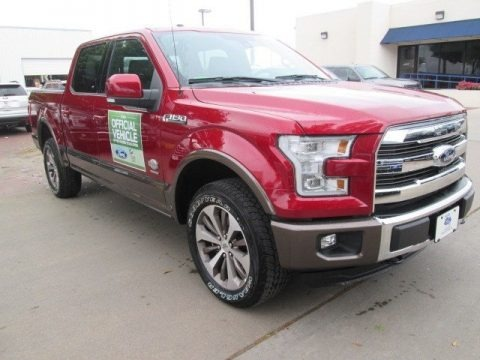 ruby red metallic ford f150 king ranch supercrew 4x4 trucks for sale truck n 39 sale. Black Bedroom Furniture Sets. Home Design Ideas