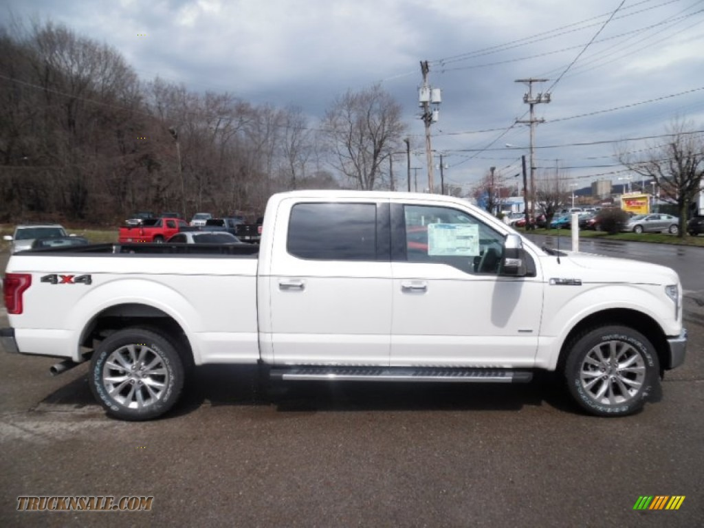 2015 ford f150 lariat supercrew 4x4 in oxford white a23451 truck n 39 sale. Black Bedroom Furniture Sets. Home Design Ideas