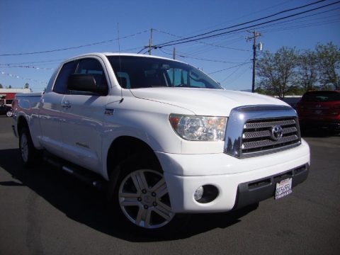 Super White 2007 Toyota Tundra Limited Double Cab