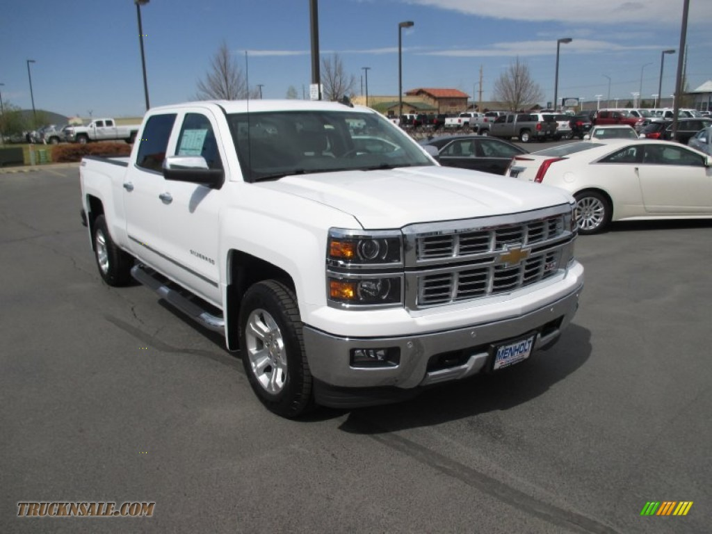 chevrolet trucks 2015 white. summit white jet black chevrolet silverado 1500 ltz z71 crew cab 4x4 trucks 2015