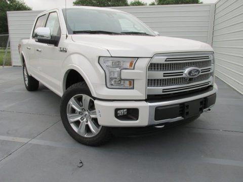 White Platinum Tricoat 2015 Ford F150 Platinum SuperCrew 4x4