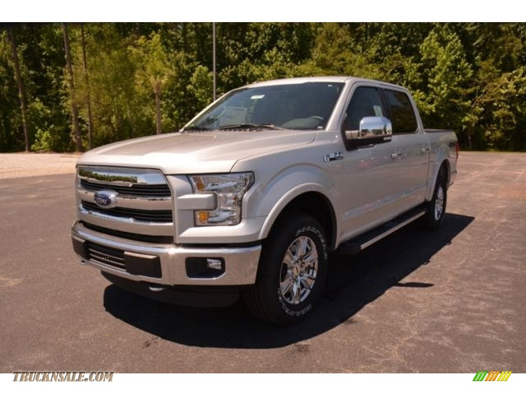 2015 ford f150 lariat supercrew 4x4 in ingot silver metallic a95609 truck n 39 sale. Black Bedroom Furniture Sets. Home Design Ideas