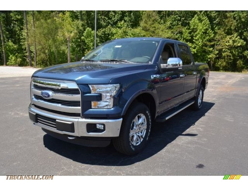 2015 ford f150 lariat supercrew 4x4 in blue jeans metallic a95605 truck n 39 sale. Black Bedroom Furniture Sets. Home Design Ideas