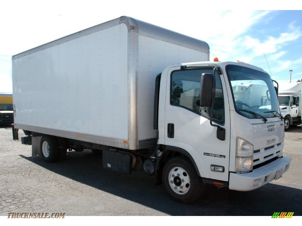 Arctic White / Gray Isuzu N Series Truck NPR HD