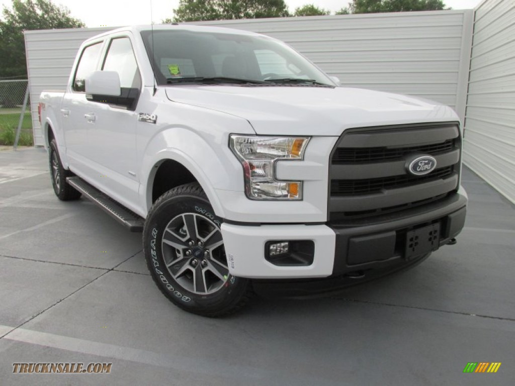 2015 ford f150 lariat supercrew 4x4 in oxford white d41815 truck n 39 sale