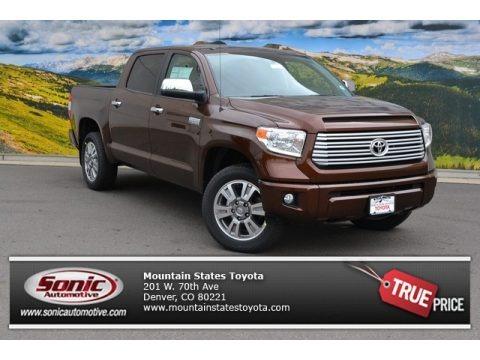 Sunset Bronze Mica 2015 Toyota Tundra Platinum CrewMax 4x4