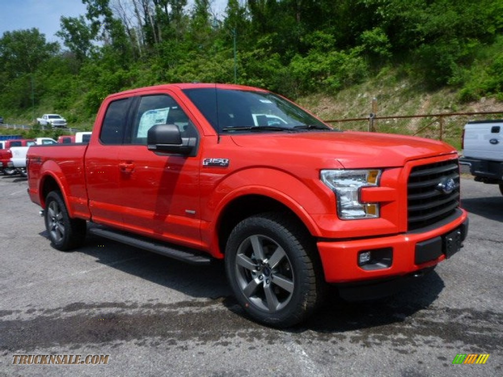 ford  xlt supercab   race red  truck  sale
