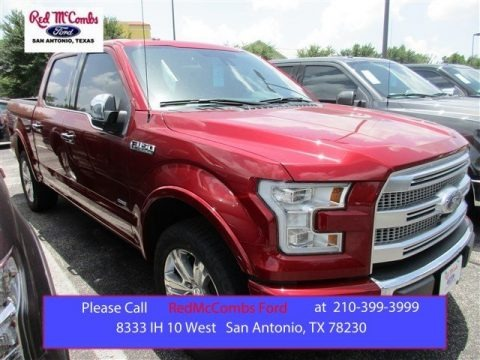 Ruby Red Metallic 2015 Ford F150 Platinum SuperCrew 4x4