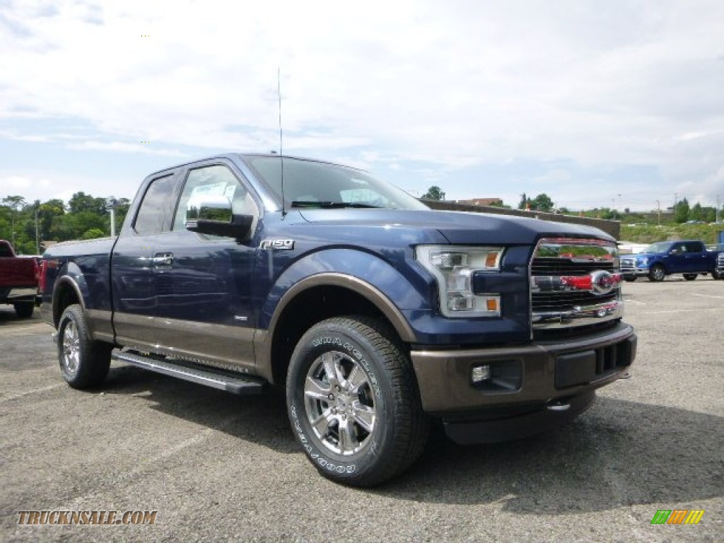 2015 ford f150 lariat supercab 4x4 in blue jeans metallic b67998 truck n 39 sale. Black Bedroom Furniture Sets. Home Design Ideas