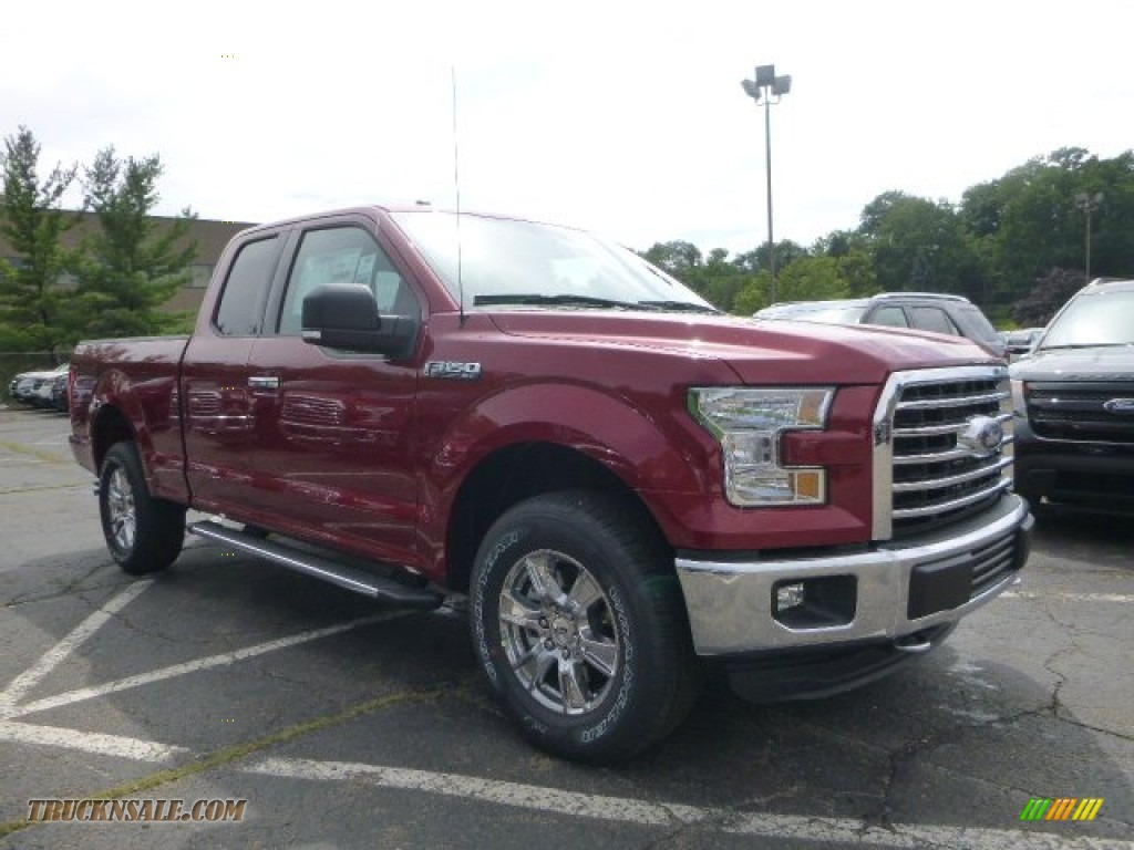 2015 ford f150 xlt supercab 4x4 in ruby red metallic b80032 truck n 39 sale. Black Bedroom Furniture Sets. Home Design Ideas