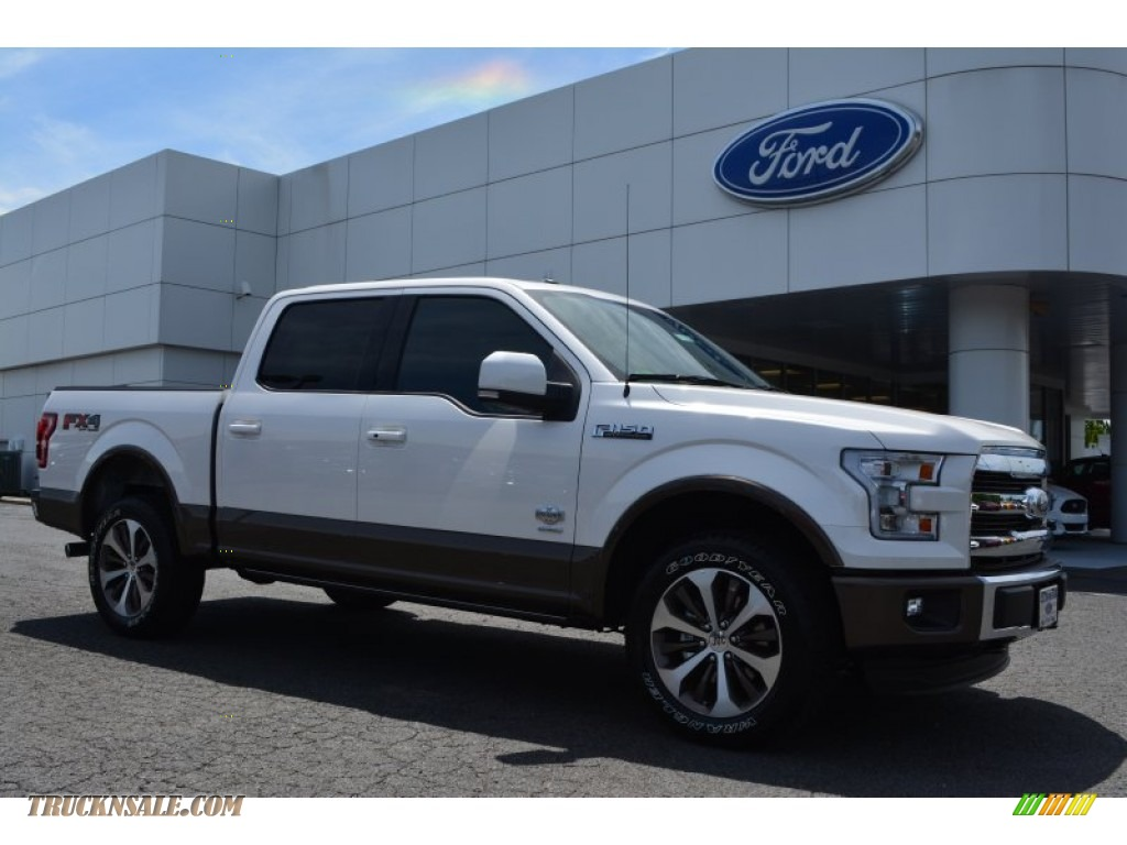2015 ford f150 king ranch supercrew 4x4 in white platinum tricoat b77616 truck n 39 sale. Black Bedroom Furniture Sets. Home Design Ideas