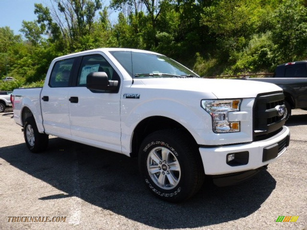 2015 ford f150 xl supercrew 4x4 in oxford white b58729 truck n 39 sale. Black Bedroom Furniture Sets. Home Design Ideas