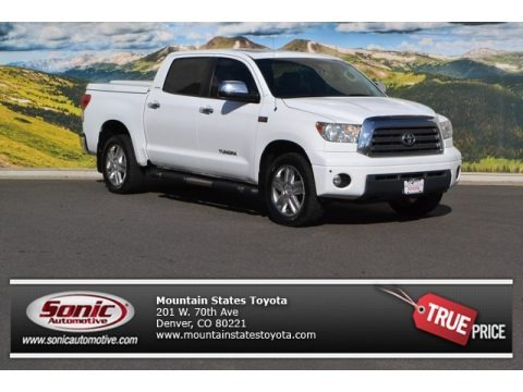 Super White 2008 Toyota Tundra Limited CrewMax 4x4