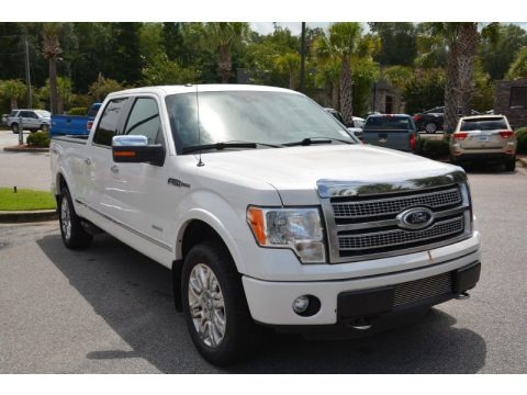 Oxford White 2012 Ford F150 Platinum SuperCrew 4x4