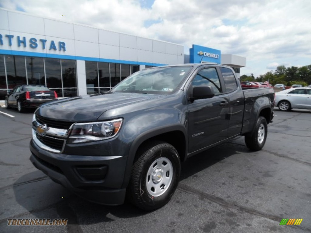 2016 chevrolet colorado wt extended cab 4x4 in cyber gray metallic 105726 truck n 39 sale. Black Bedroom Furniture Sets. Home Design Ideas
