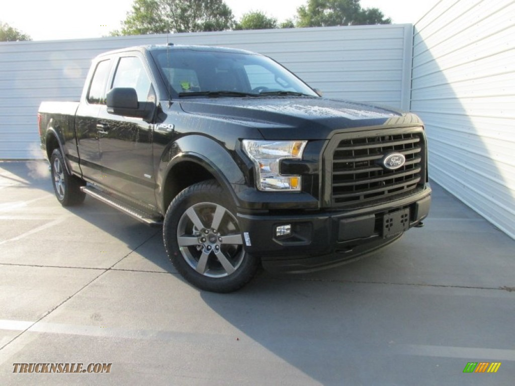 2015 ford f150 xlt supercab 4x4 in tuxedo black metallic e03649 truck n 39 sale. Black Bedroom Furniture Sets. Home Design Ideas