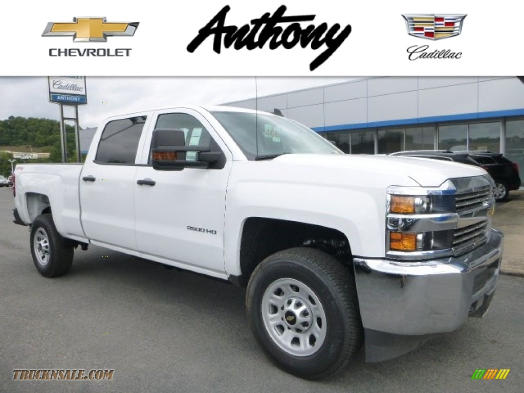 2015 chevrolet silverado 2500hd wt crew cab 4x4 in summit white 606539 truck n 39 sale. Black Bedroom Furniture Sets. Home Design Ideas