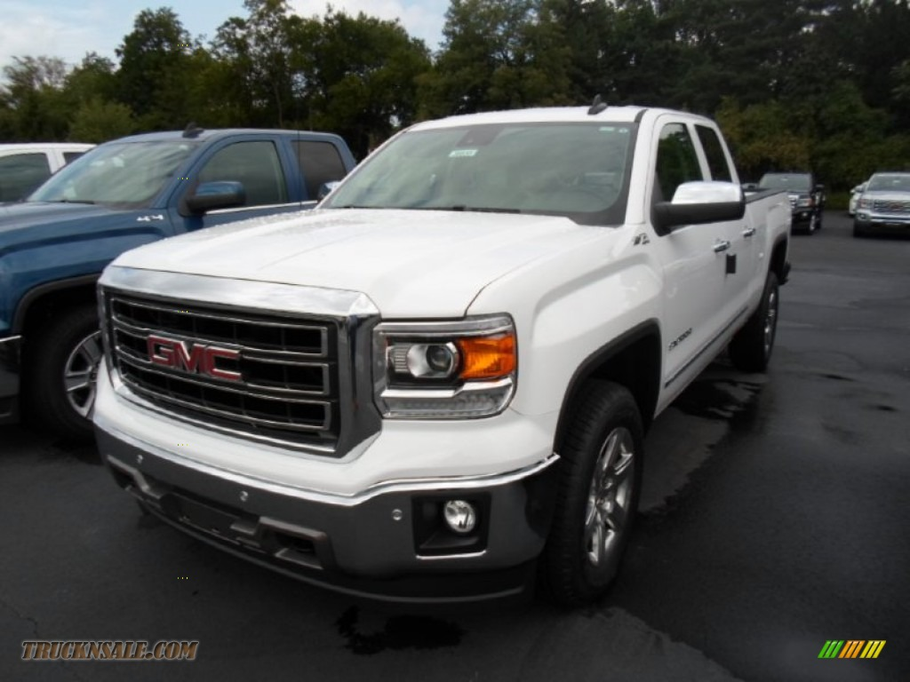 2015 gmc sierra 1500 slt double cab 4x4 in summit white 420336 truck n 39 sale. Black Bedroom Furniture Sets. Home Design Ideas
