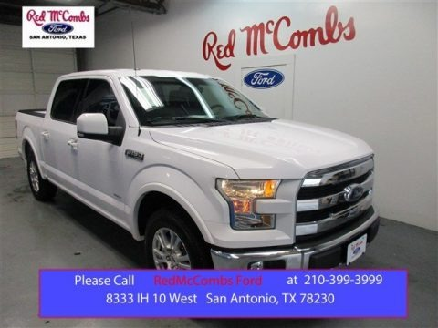 Oxford White 2015 Ford F150 Lariat SuperCrew