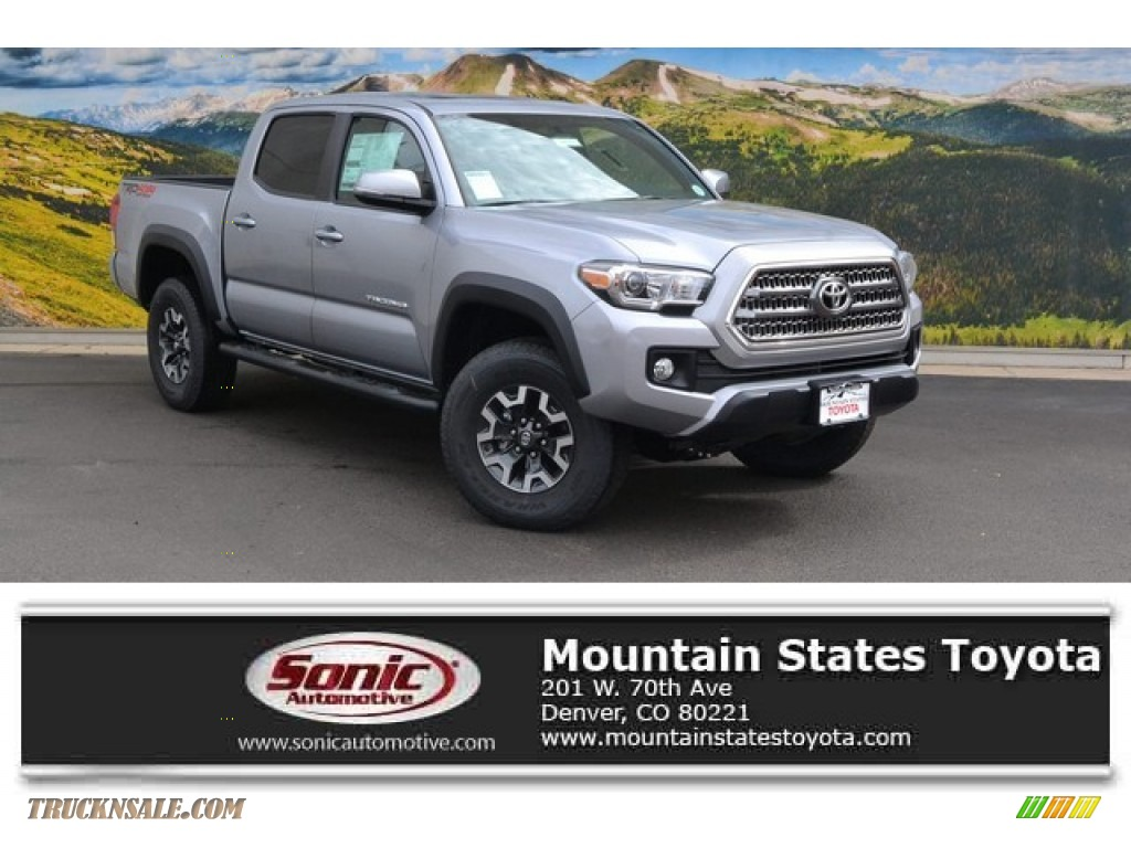 2016 toyota tacoma trd off road double cab 4x4 in silver sky metallic 002273 truck n 39 sale. Black Bedroom Furniture Sets. Home Design Ideas
