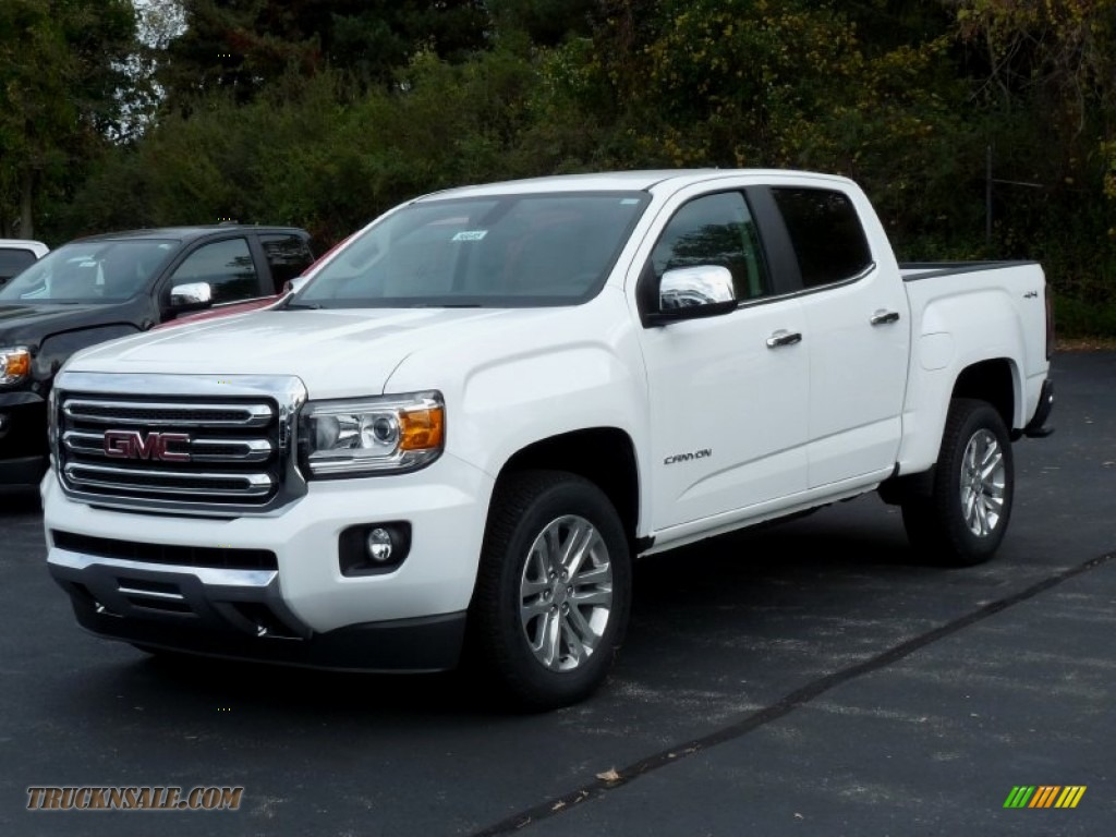 2016 gmc canyon slt crew cab 4x4 in summit white 102167 truck n 39 sale. Black Bedroom Furniture Sets. Home Design Ideas