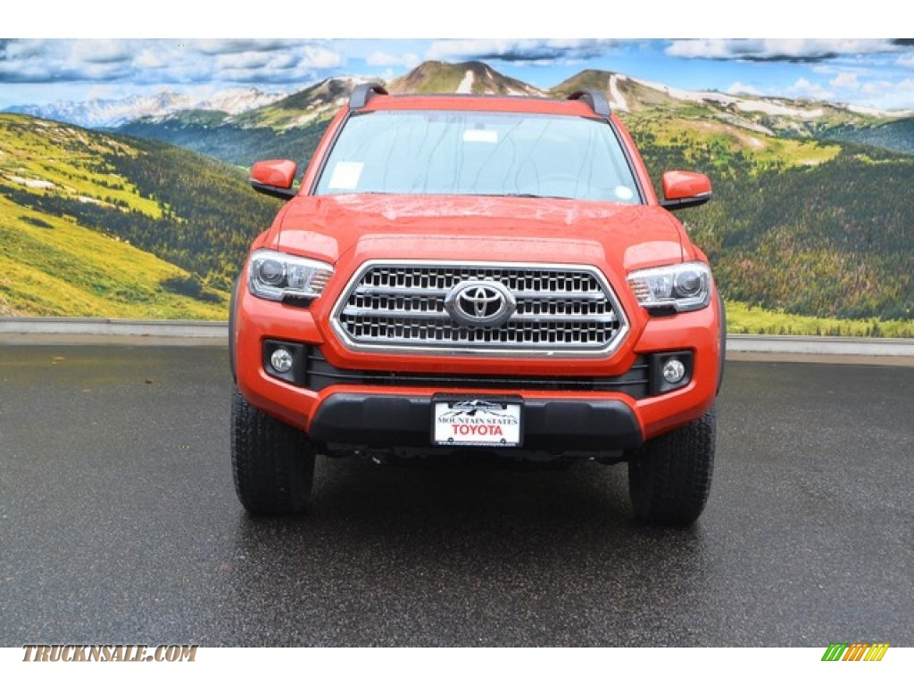 2016 toyota tacoma trd off road double cab 4x4 in inferno orange photo 2 003196 truck n 39 sale. Black Bedroom Furniture Sets. Home Design Ideas