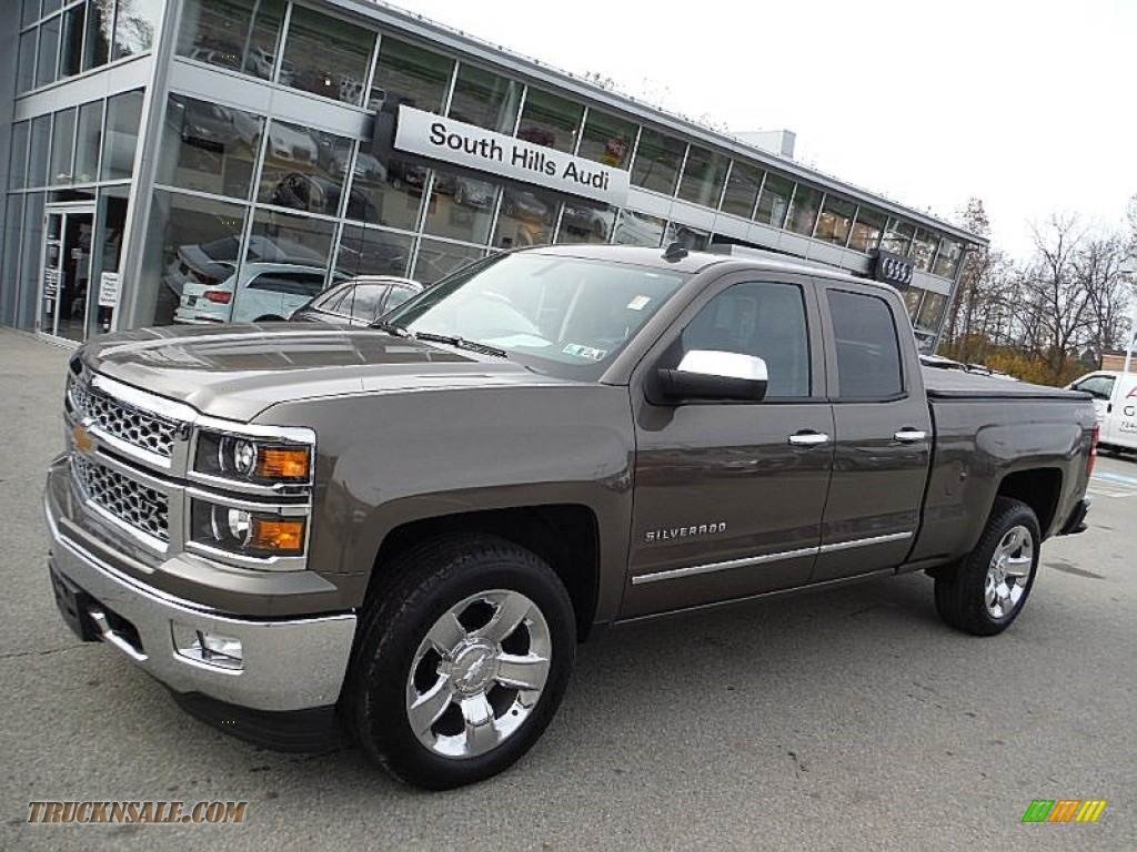2014 chevrolet silverado 1500 ltz double cab 4x4 in brownstone metallic 316876 truck n 39 sale. Black Bedroom Furniture Sets. Home Design Ideas
